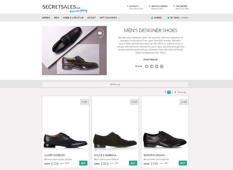 Mens Designer Shoes - Secret Sales