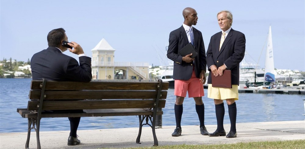 business men in shorts - fashion mistakes