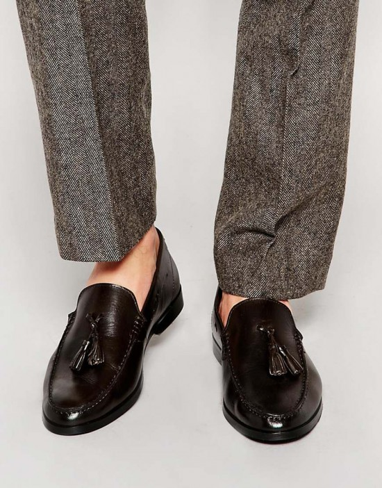 Frank Wright Leather Tassel Loafers
