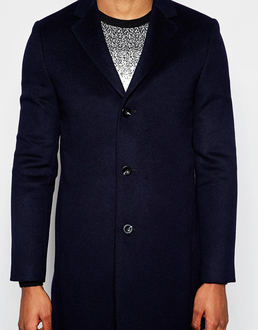 Reiss Unstructured Wool Overcoat
