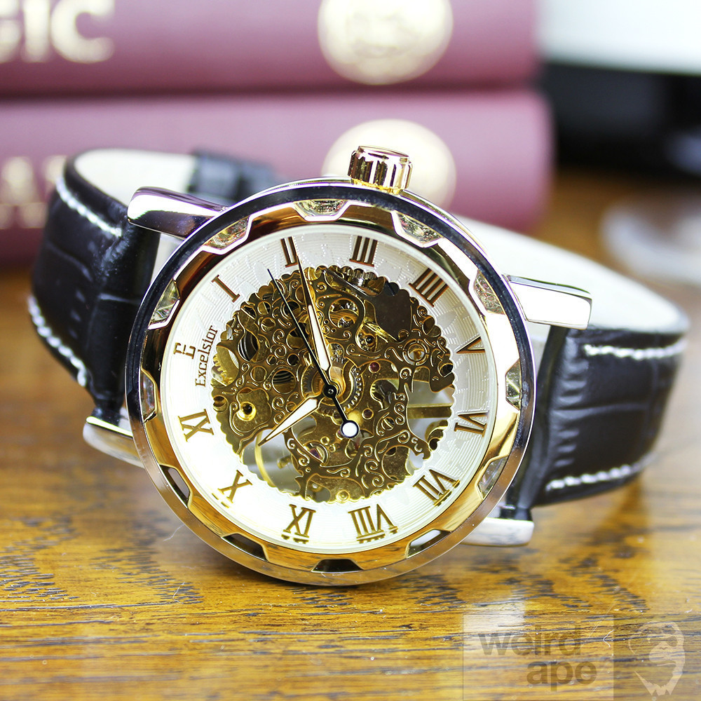 Excelsior Magnum Gold - Mechanical Skeleton Watch