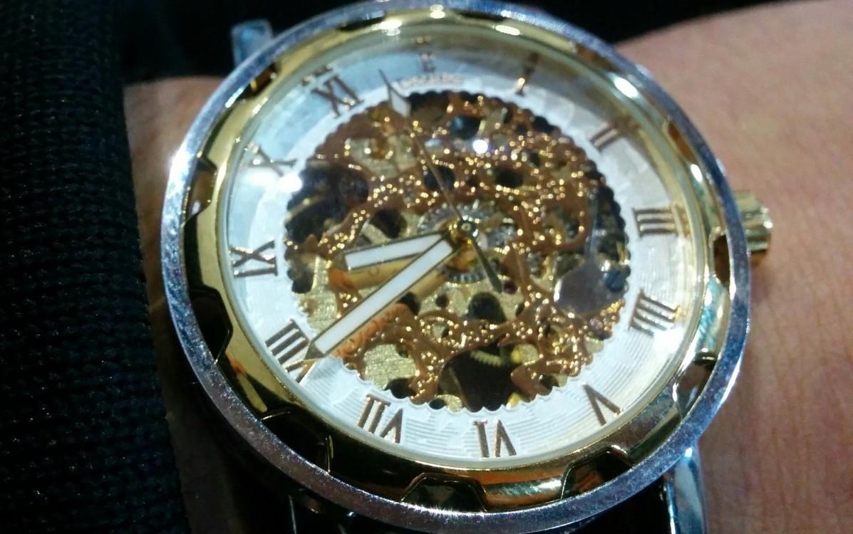 Excelsior Black & White - Mechanical Skeleton Watch