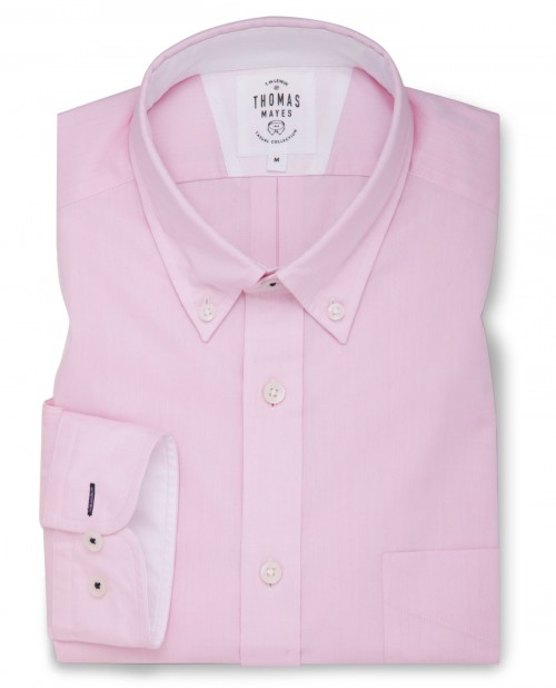 Light Pink Oxford Relaxed Fit Casual Shirt