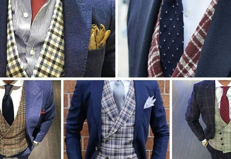 contrasting waistcoat