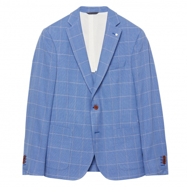 GANT Window Pane Blazer- Light Blue