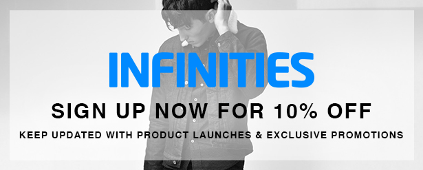 infinities newsletter 10% off