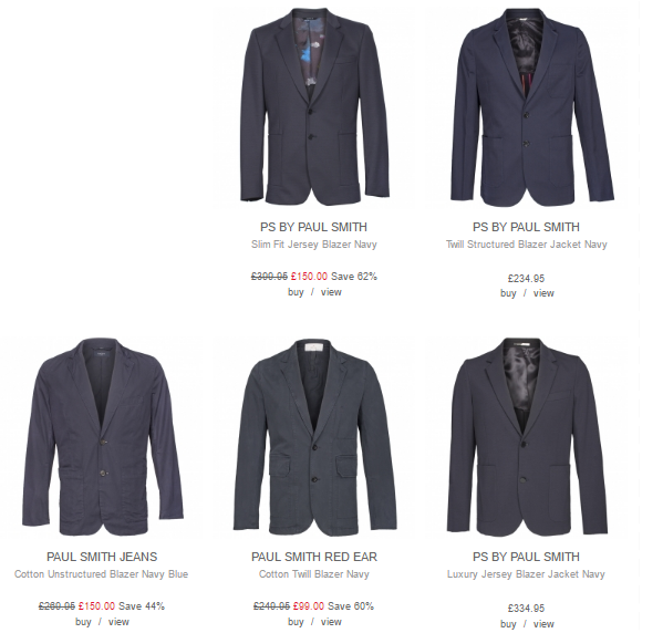 Paul Smith Blazers Infinities Menswear