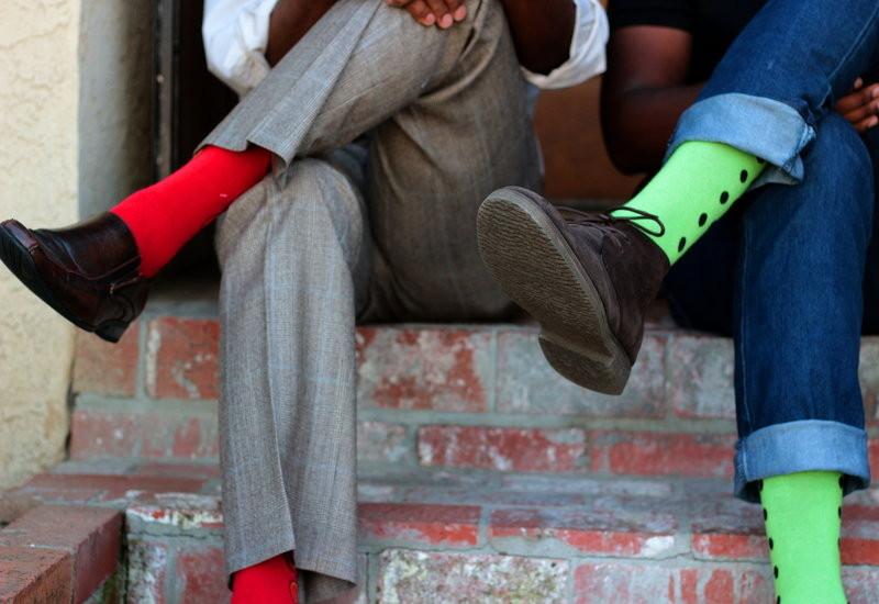 socks above the ankles
