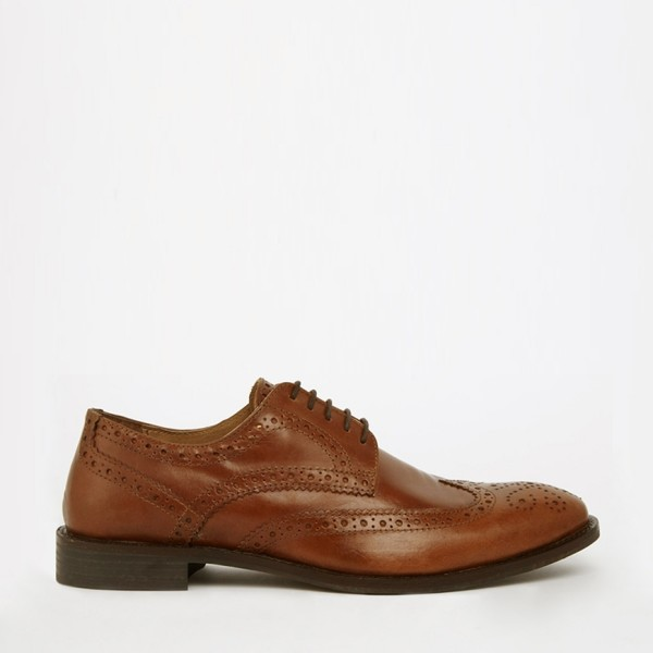 ASOS Brogue Shoes in Leather 2