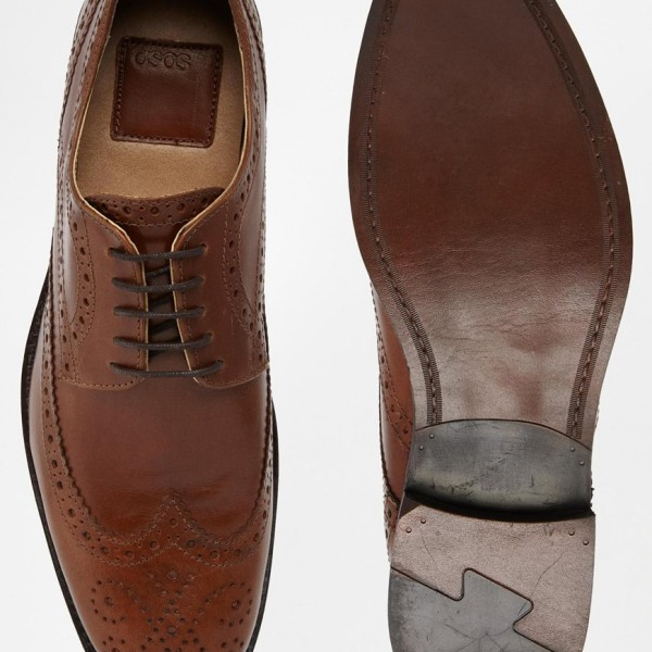 ASOS Brogue Shoes in Leather 3