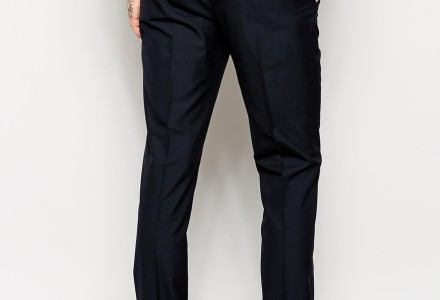 ASOS Slim Fit Suit In Navy Pindot trousers 2