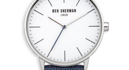 Blue Canvas Herringbone Watch
