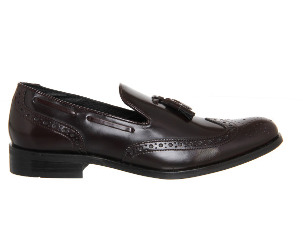 office burgundy loafers 2