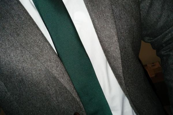 Grey Donegal Slim Fit Suit: Jacket