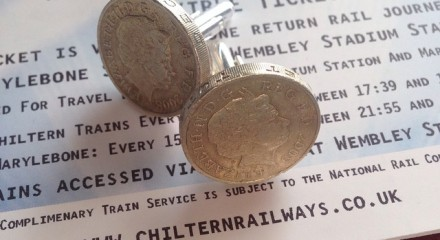 £1 coins cufflinks in the UK
