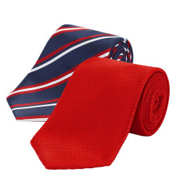 2 Pack Striped Ties with Stain Resistance