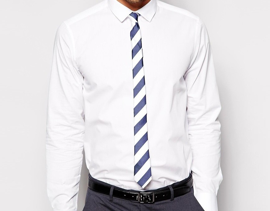 ASOS Smart Shirt with Stripe Tie and Pocket Sqaure
