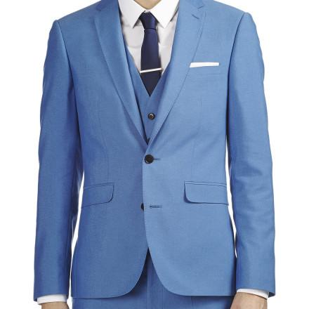 BRIGHT BLUE TONIC SLIM FIT SUIT JACKET