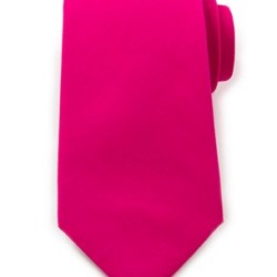 Bright Pink Cotton Tie