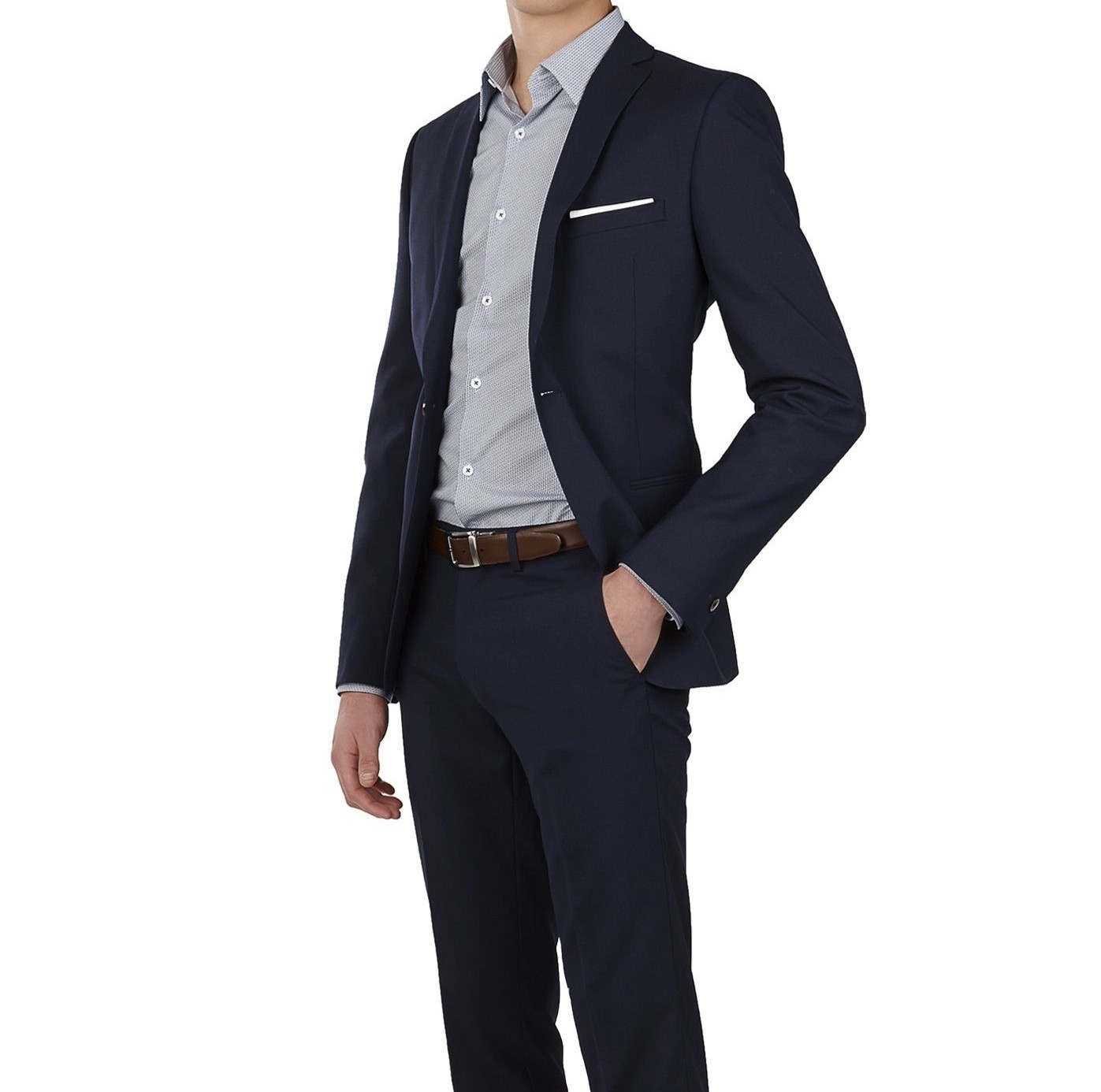 Jackman Navy 1-Button Skinny Suit