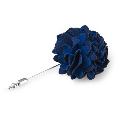 SAVOY TAYLORS GUILD NAVY FLOWER LAPEL PIN