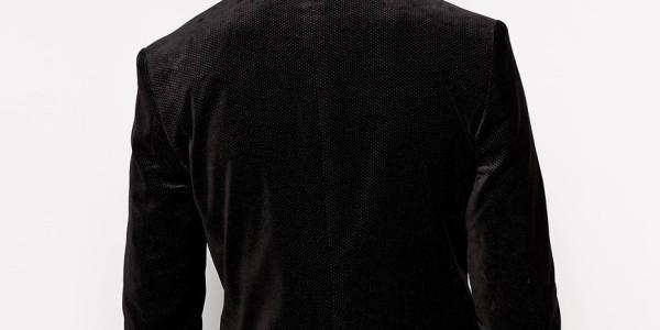Selected Velvet Blazer With Pindot In Skinny Fit 2