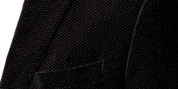 Selected Velvet Blazer With Pindot In Skinny Fit 3