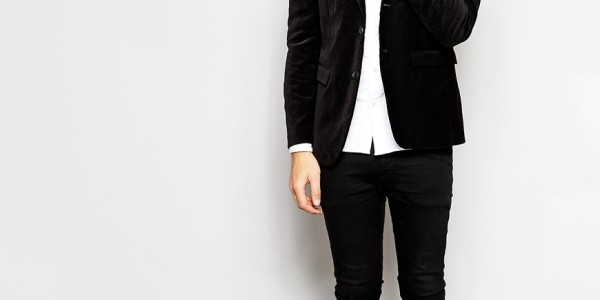 Selected Velvet Blazer With Pindot In Skinny Fit 4