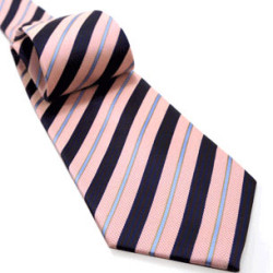 Textured Thin And Thick Stripes Tie