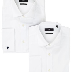 Two Pack Plain White Shirts