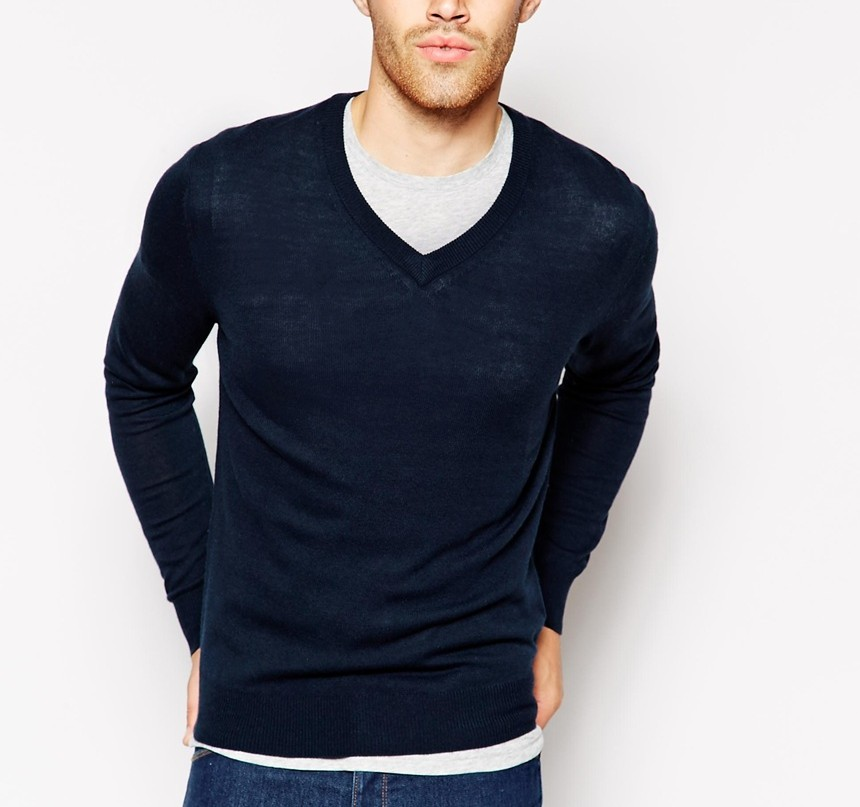 United Colors Of Benetton Jumper With V Neck