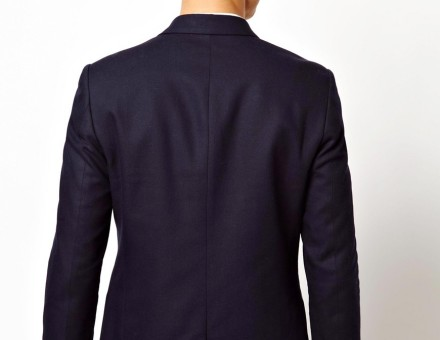 ASOS Slim Fit Double Breasted Blazer With Gold Buttons 2