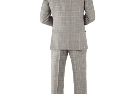 Ben Sherman Grey Prince Of Wales Check Kings Fit Suit 4