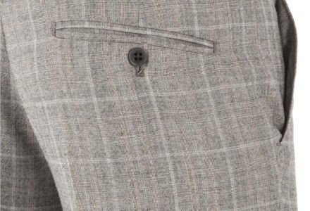 Ben Sherman Grey Prince Of Wales Check Kings Fit Suit
