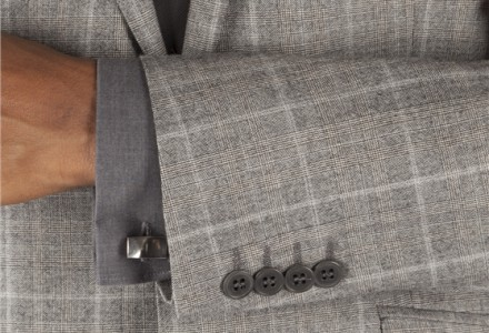 Ben Sherman Grey Prince Of Wales Check Kings Fit Suit 5