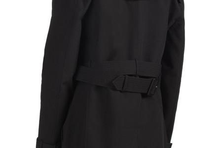 Black Shower Resistant Belted Trench Coat 3
