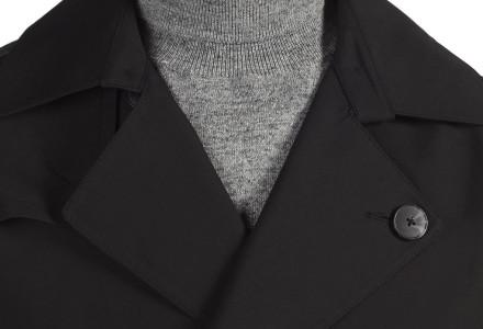 Black Shower Resistant Belted Trench Coat 4