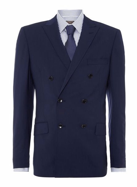 Corsivo Redi Double Breasted Peak Lapel Panama Jacket – £72.99