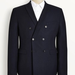 Next Navy Slim Fit Double Breasted Blazer – £65.00