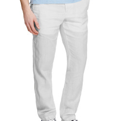 Pure Linen Easy to Iron Flat Front Chinos – £35.00