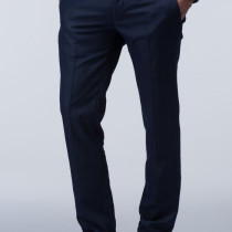 classic slim fit blended viscose trousers
