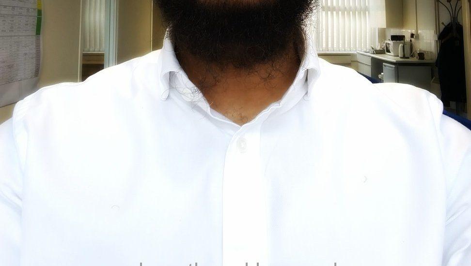 White TM Lewin Shirt With Stiffies